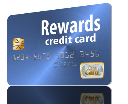 Here is a generic, mock (safe to publish)  rewards credit card. This is an illustration. Banco de Imagens