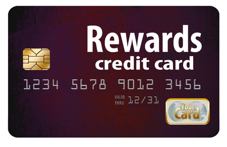 Here is a generic, mock (safe to publish)  rewards credit card. This is an illustration. Фото со стока
