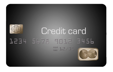 Here is a generic, mock (safe to publish)  credit card of modern design. This is an illustration.