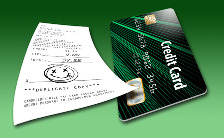 No signature required for credit card purchases. That is the new trend this year. Фото со стока - 110212784