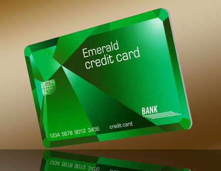 Here is a modern credit card designed to look like an emerald.