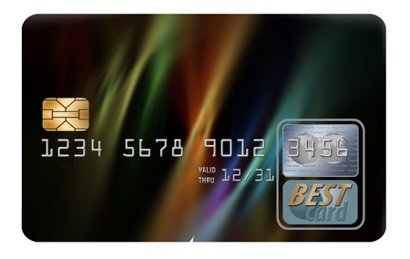 Here is a generic, mock (safe to publish) credit or debit card that has blank space for your text. This is an illustration. 스톡 콘텐츠