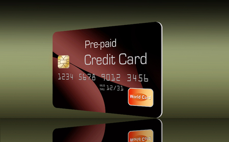Here is a generic, mock pre-paid secured  credit card. This is an illustration. Stock Illustration - 110212035