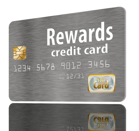 Here is a generic, mock (safe to publish)  rewards credit card. This is an illustration. Reklamní fotografie