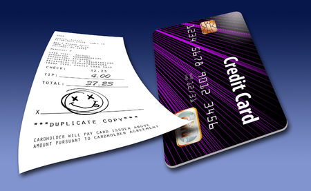 No signature required for credit card purchases. That is the new trend this year. Фото со стока - 110212075