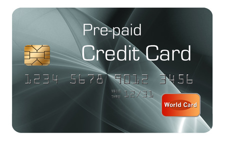Here is a generic, mock pre-paid secured  credit card. This is an illustration. Reklamní fotografie