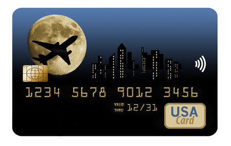 Here is an air miles reward card. It is also known as a frequent flier card with points and miles rewards for customers.