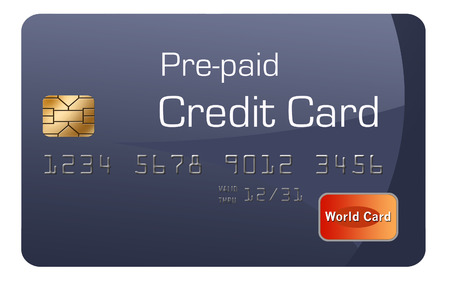 Here is a generic, mock pre-paid secured  credit card. This is an illustration. Stockfoto