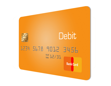 Here is a generic, mock (safe to publish)  debit card. This is an illustration.