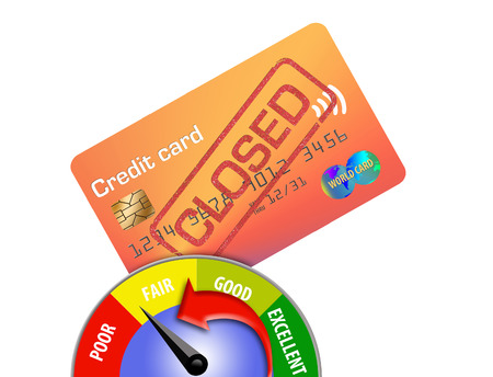 Closing a credit card can lower your credit score. Here is an illustration about that topic.