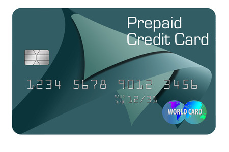 Here is a generic, mock prepaid credit card. This is an illustration.