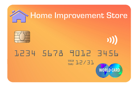 Here is a home improvement chain store credit card with deck screws decorating the card.
