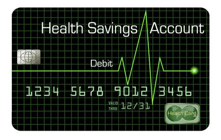 Here is a health saving account HSA debit card.