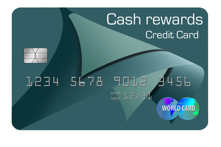 Here is a generic, mock (safe to publish)  cash rewards credit card. This is an illustration. Фото со стока