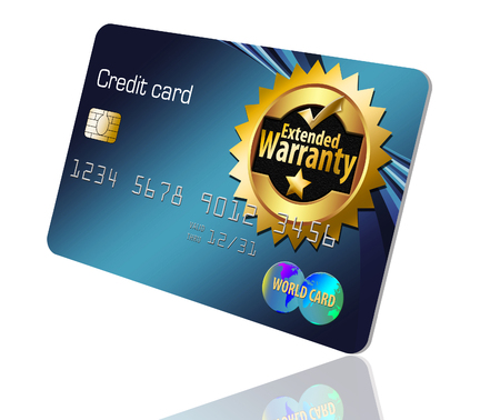 Here is an extended warranty credit card that offers warranties on item purchased using this card. Banco de Imagens - 110206188