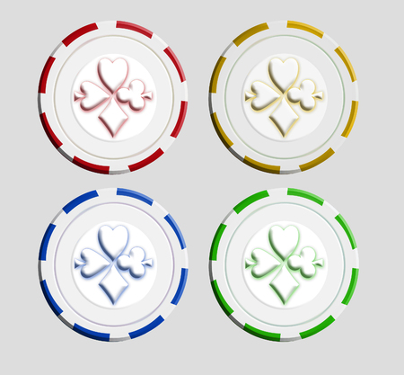 This is a modern illustration poker chips.