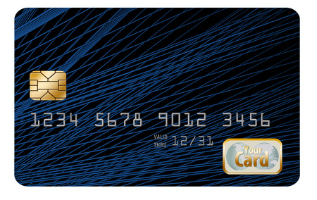 Here is a partially constructed credit card image to be completed as needed by client. Text and art can be added to make image fit your needs. Stock Photo