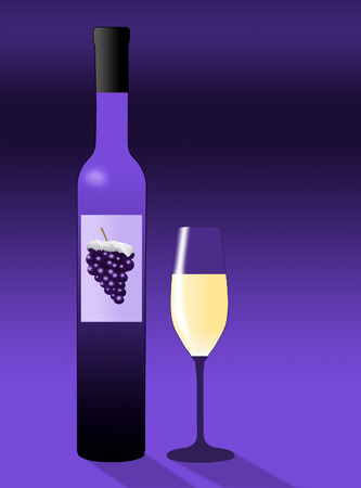 Here is an illustration about ice wine. Bottles of ice wine are lined up in a colorful illustration.