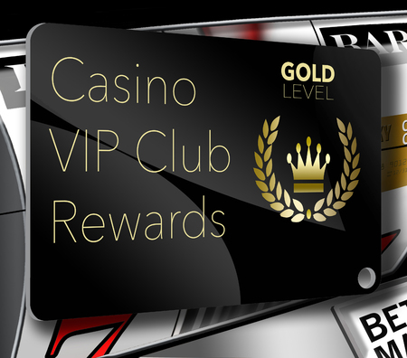 Here is a casino VIP club rewards card for loyal gamblers. Here is a gold level members card with a crown and laurel left logo.