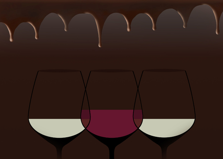 An alcohol drink theme is the basis for this background illustration.