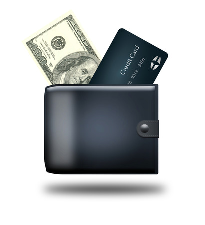 There are three options for paying that you can carry with you...cash, credit card or cell phone tap to pay. Here is an illustration showing the three options and a wallet.