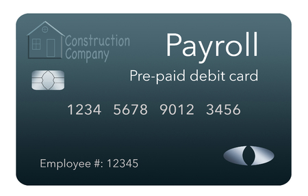 Here is a payroll debit card. It is a pre-paid debit card used to pay employees their payroll wages. It is and illustration. 版權商用圖片