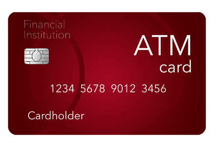 Here is an ATM card which is shown with a debit card which is often thought to be the same as an ATM but it is not. This is an illustration.