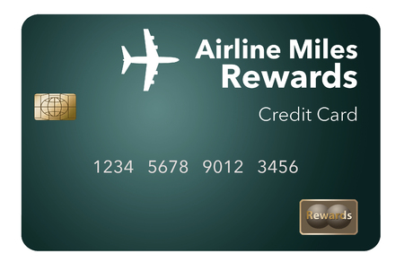 Here is an airlines rewards credit card, a frequent flier credit card.  This is an illustration.