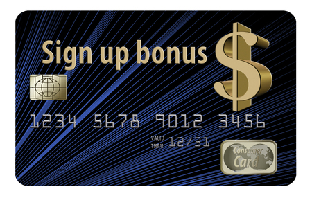 Here is a generic sign up bonus credit card that offers an up front bonus for signing up for this card.