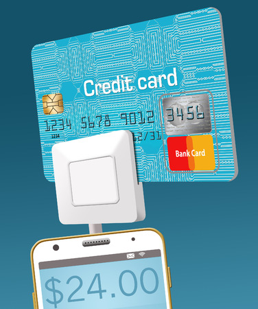 Here is a cell phone credit card reader as it read the info on a credit card.