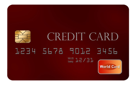 Here is a mock credit card isolated on background.