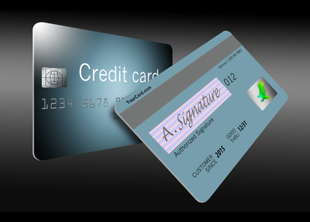 Here is a view of the back of a credit card with all of its security features.