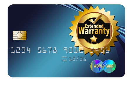 Here is a generic warranty credit card that offers buyer protection on purchases made with this card. Banco de Imagens - 112486347