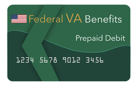 Federal  benefits for Social Security, SSI, VA (Veterans Administration) and more can be paid using a prepaid debit card. Here is a mock prepaid government debit card for a VA recipient. This is an illustration.