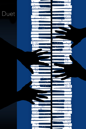 Here is an image about piano duets.This is an illustration. Stock Photo