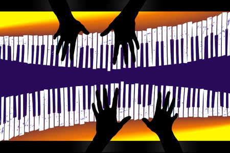 Here is an image about piano duets.This is an illustration. Фото со стока - 115958379
