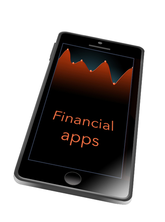 This illustrates having a financial app on your cell phone. This is an illustration.