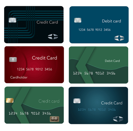 GRAPHIC RESOURCE-A page of credit cards. This is an illustration Stok Fotoğraf