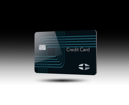 A credit card is in this image. This is an illustration