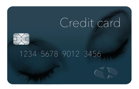 You want a credit card that lets you rest easy with low interest rate etc. Here is a sleeping person on a card to convey that message. This is an illustration