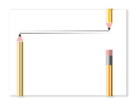 Pencils make a frame in this graphic design to provide an interesting space for text.