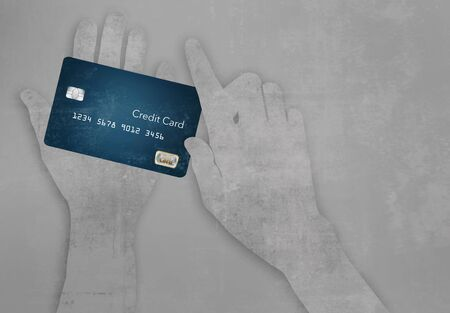 Here is your hard working credit card you use everyday. It is worn and used.
