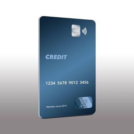 This a generic mock credit card that is in the modern vertical format. Isolated on a white background. 版權商用圖片