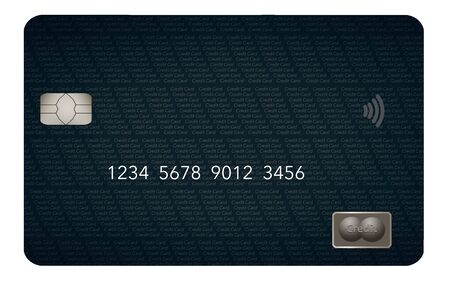 A contemporary design is seen on this generic credit card or debit card. Stockfoto