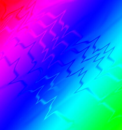 An electrocardiogram pattern, like an EKG printout of up and down lines is seen in this colorful full spectrum background image.