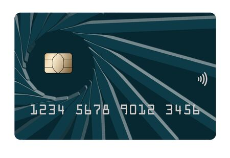 Here is a contemporary credit card with the EMV chip security feature emphasized.