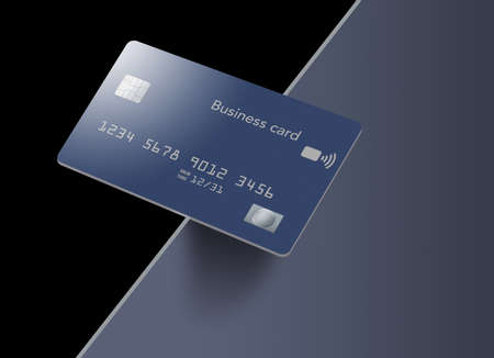 A business credit card balance on the edge in this illustration.