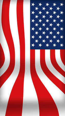 A USA flag with curving flowing lines and folds is seen in thisl background image.