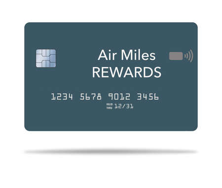 Here is a air miles reward credit card. It is 3-D and generic. Stok Fotoğraf - 165955426