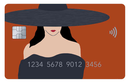 A beautiful girl's face is part of the design of a generic credit card in this 3-D illustration. The theme is about using your card for fashion, cosmetics and anything beauty.